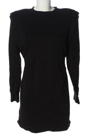 Zara Sweatkleid schwarz Schriftzug gedruckt Casual-Look