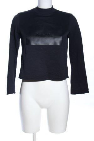 Zara Sweatshirt schwarz Schriftzug gedruckt Casual-Look