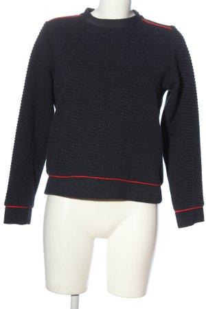 Zara Sweatshirt schwarz-rot Casual-Look