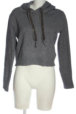 Zara Sweatshirt hellgrau meliert Casual-Look