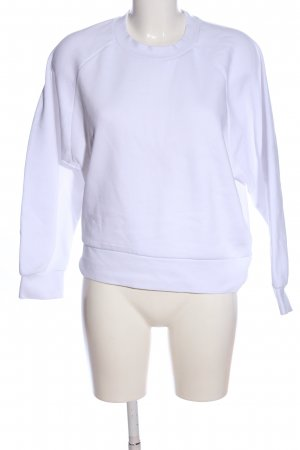 Zara Sweatshirt weiß Casual-Look