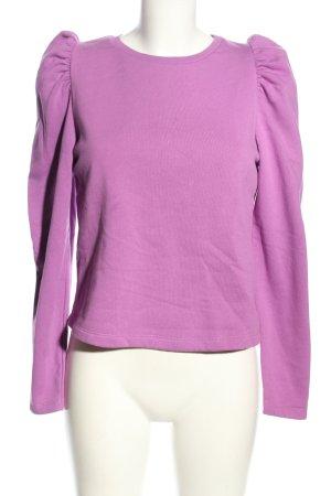 Zara Sweatshirt lila Casual-Look