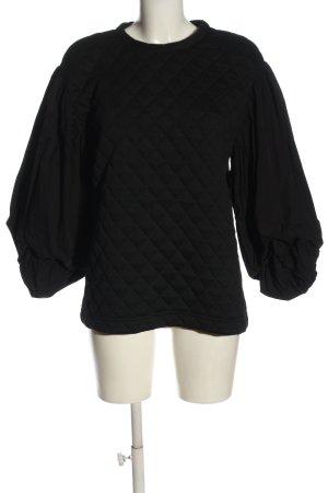 Zara Sweatshirt schwarz Steppmuster Casual-Look