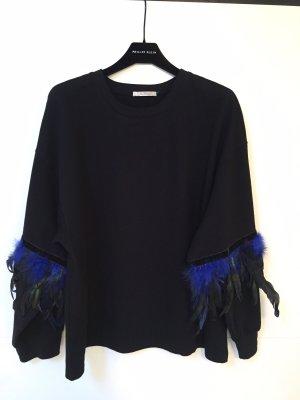 Zara Felpa nero-blu scuro Cotone