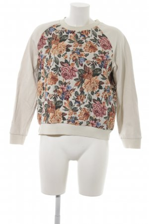 Zara Sweatshirt Blumenmuster Casual-Look