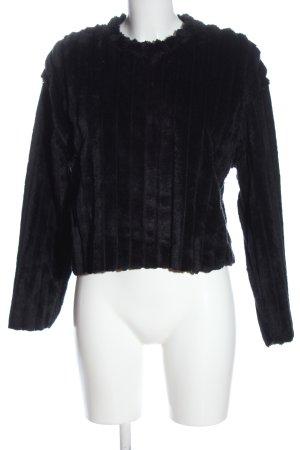 Zara Sweatshirt schwarz Casual-Look