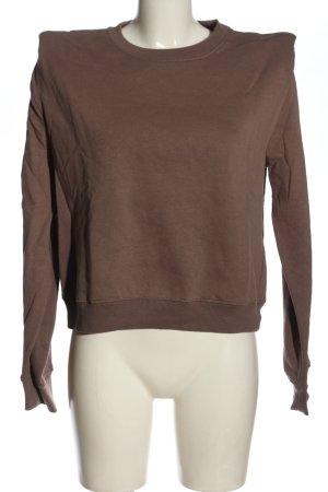 Zara Bluza dresowa brązowy W stylu casual