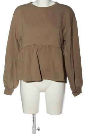 Zara Sweatshirt braun Casual-Look