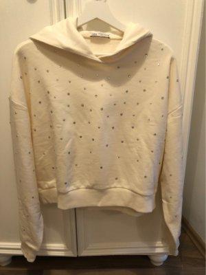 Zara Hooded Sweatshirt natural white
