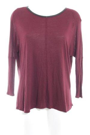 Zara Sweatshirt karminrot Casual-Look