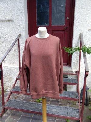 Zara: Sweatshirt, mauve - rostrot , Gr. L - gut!