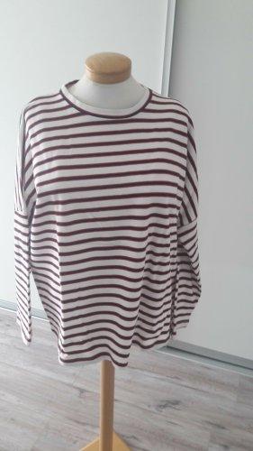 Zara Sweter oversize głęboka czerwień-ciemnoniebieski