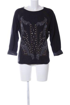 Zara Sweatshirt schwarz abstraktes Muster Casual-Look