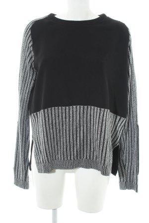 Zara Sweatshirt schwarz-hellgrau Casual-Look