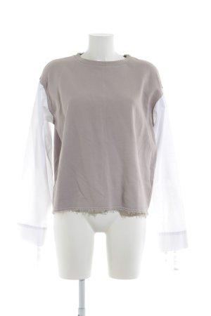 Zara Sweatshirt weiß-camel Urban-Look