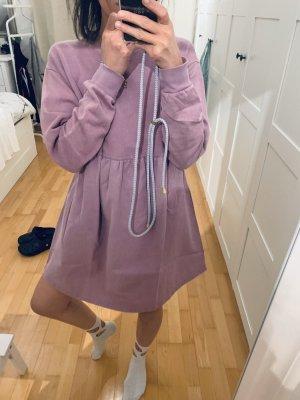 Zara Sweatshirtkleid in flieder