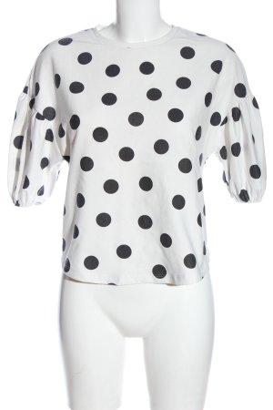 Zara Feinstrickpullover weiß-schwarz Casual-Look
