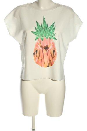 Zara T-Shirt Motivdruck Casual-Look