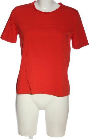 Zara T-shirt czerwony W stylu casual