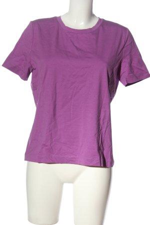 Zara T-Shirt lila Casual-Look