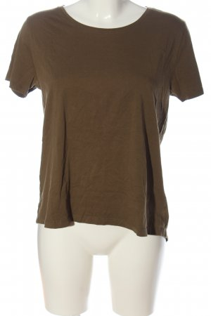 Zara T-Shirt bronzefarben Zopfmuster Casual-Look