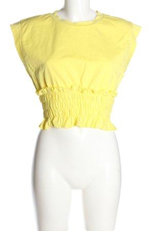 Zara T-Shirt blassgelb Casual-Look