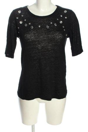 Zara T-Shirt schwarz Casual-Look