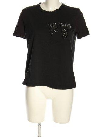 Zara T-Shirt schwarz Motivdruck Casual-Look