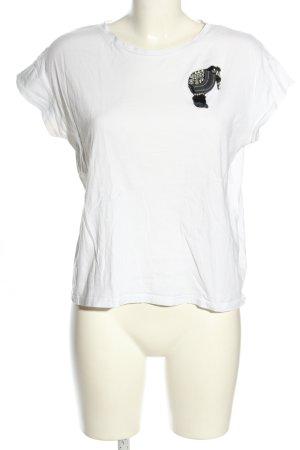 Zara T-Shirt weiß Casual-Look