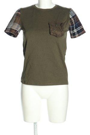 Zara T-Shirt Karomuster Casual-Look
