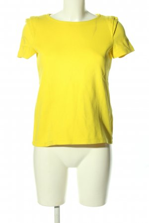 Zara T-Shirt blassgelb Casual-Look