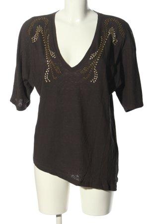 Zara T-Shirt braun Casual-Look
