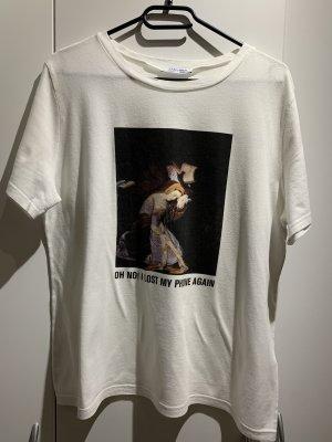 Zara T-shirt wit-zwart