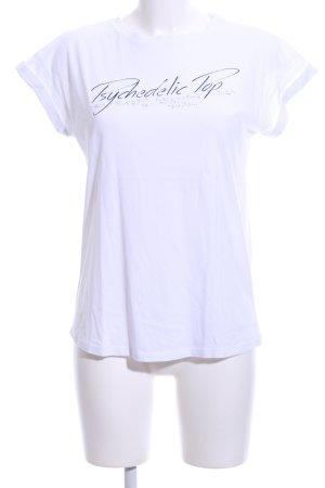Zara T-Shirt weiß Schriftzug gedruckt Casual-Look