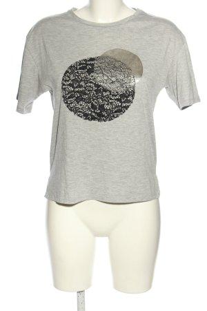 Zara T-Shirt Schriftzug gestickt Casual-Look