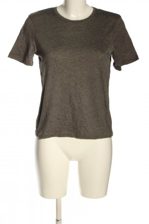 Zara T-Shirt brown flecked casual look