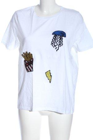 Zara T-Shirt mehrfarbig Casual-Look