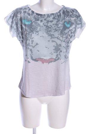 Zara T-Shirt hellgrau-blau Farbverlauf Casual-Look