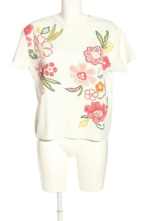 Zara T-Shirt Blumenmuster Casual-Look
