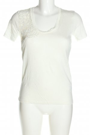 Zara T-Shirt wollweiß Casual-Look