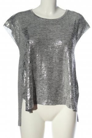 Zara T-Shirt hellgrau-silberfarben meliert Elegant