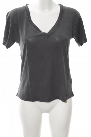 Zara T-Shirt dunkelgrau Casual-Look