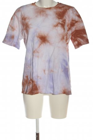 Zara T-Shirt lila-braun Allover-Druck Casual-Look