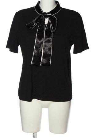 Zara T-Shirt schwarz-weiß Casual-Look