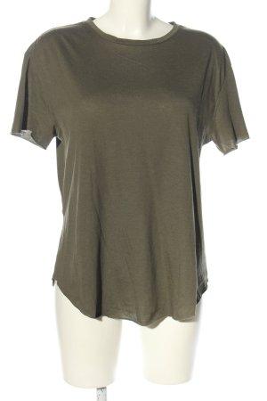 Zara T-Shirt khaki Casual-Look