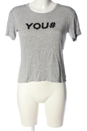 Zara T-Shirt hellgrau meliert Casual-Look
