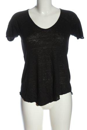 Zara T-Shirt schwarz meliert Casual-Look