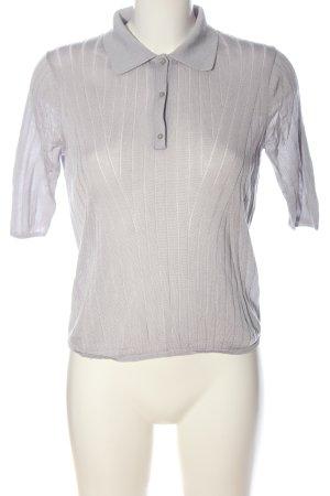 Zara T-Shirt hellgrau Zopfmuster Casual-Look