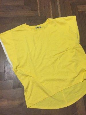 Zara Maglia scollo a barca giallo Cotone