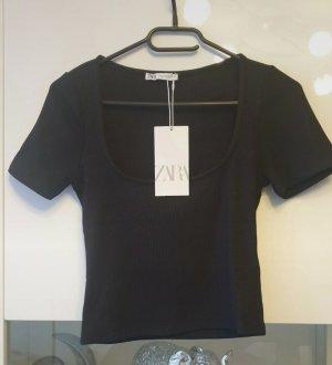 Zara Ribbed Shirt black